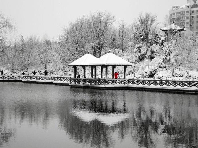 人民公园雪景